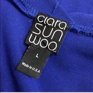 Clara Sun Woo Sweaters - Clara Sun Woo Ponte Open Placket Raglan Cardigan